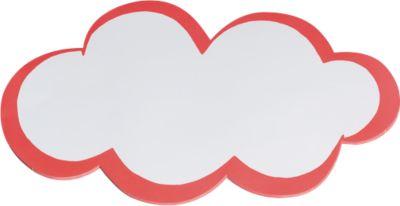 Moderationskarten, wolkenförmig, 250 x 420 mm, 20 Stück, weiß/rot