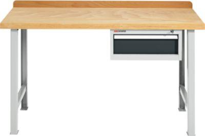 Modul-Werkbank, mit Schublade aus Arbeitsplatte und 2 Fußgestellen, Breite 1500