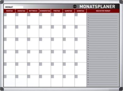 Monatsplaner Earth-It, Monatsaufteilung, magnetisch, abwischbar