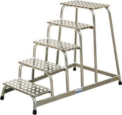 Montagetrap, 5 treden, 13,5 kg, hoogte: 1,00 m