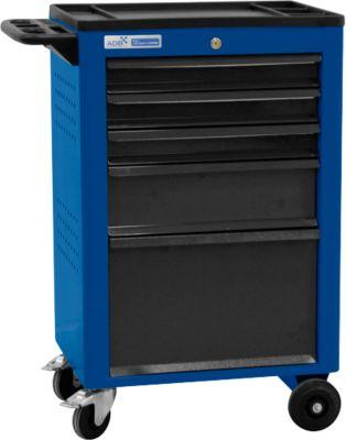 Montagewagen BASIC, 5 schuifladen, blauw