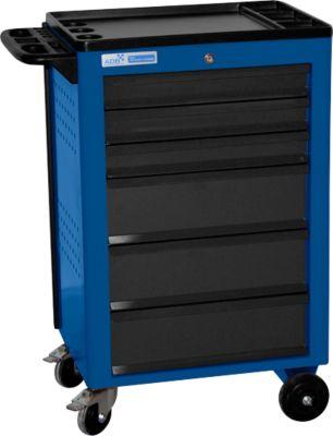 Montagewagen BASIC, 6 schuifladen, blauw