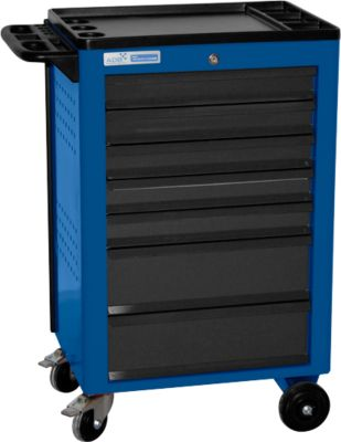 Montagewagen BASIC, 7 schuifladen, blauw