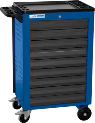 Montagewagen BASIC, 9 schuifladen, blauw