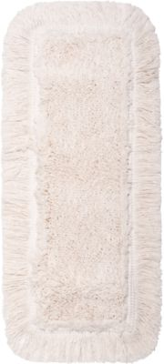 Mop cover Sprintus Classic Pro, katoen/polyester, met riemen, B 500 mm, 5 stuks, wit, met schouderbandjes