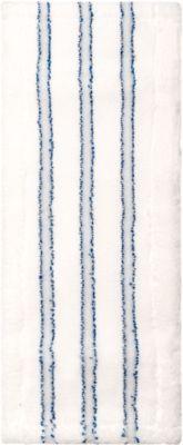 Mop cover Sprintus Premium, microvezel/haar, met riempjes, W 400 mm, 5 stuks, wit/blauw, met riempjes