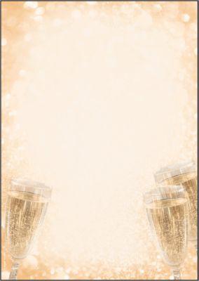 Motivpapier Sigel Champagne, A4, 90 g/m², Sektglas-Motiv, 100 Blatt