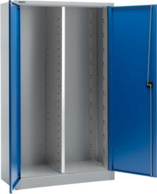 MS 2512 materiaalkast, b 1200 x d 500 x h 1935 mm, leeg, aluzilver/gentiaanblauw