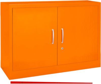 MSiCOLOUR vleugeldeurkast , staal, 2OH, b1200x d400x h865mm, oranje RAL2004
