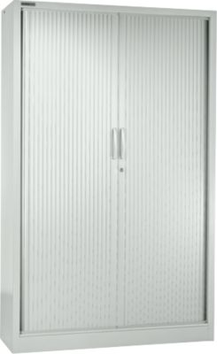 MS iCONOMY roldeurkast, staal, 5 OH, b 1200 x d 400 x h 1935 mm, lichtgrijs RAL 7035