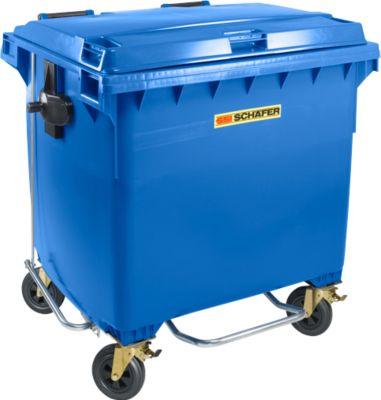 Müllcontainer MGB 1100 FDP, Kunststoff, 1100 l, blau