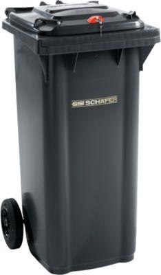 Mülltonne GMT, 120 l, Schwerkraftschloss, schwarzgrau