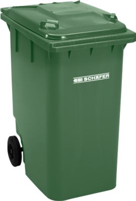 Mülltonne GMT, 360 l, fahrbar, grün