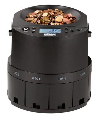 Münzzähler Ratiotec Coinsorter CS500, zählt & sortiert bis zu 600 Euromünzen/min, mit Bündelfunktion, Netzkabel