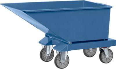 Muldenkipper 4701, 250 l, blau RAL 5007, ohne Ablasshahn und Sieb