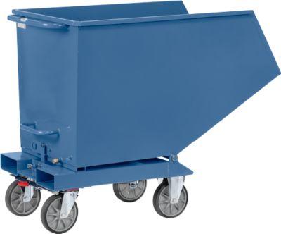 Muldenkipper 4704, 800 l, blau RAL 5007, ohne Ablasshahn und Sieb