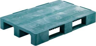 Multifunctionele pallets, van HDPE integrale schuimrubber technologie, 1200 x 800 mm, groen, 5 stuks