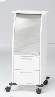 Multimobil III mit Rollladen+Schubladen, weiß/weißalu