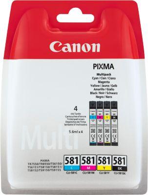 Multipack 4 Stück Canon Tintenpatrone CLI-581 C/M/Y/K