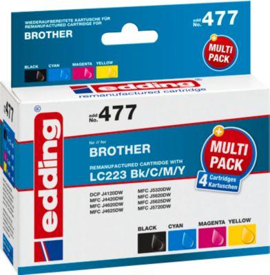 Multipack inktverdelging compatibel met Brother LC223BK/C/M/Y, CMYK, compatibel met Brother LC223BK/C/M/Y, CMYK