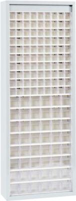MultiStore Magazinschrank, 138 Behälter, lichtgrau