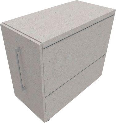 Multiwa kastje SOLUS PLAY, aanbouw links, b 800 x d 400 x h 720 mm, Ceramic grey