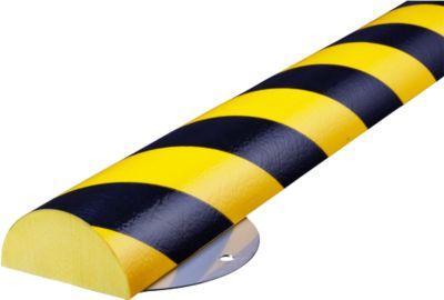 Muurbeschermingskit, Type C+, 1 m. stuk, geel/zwart