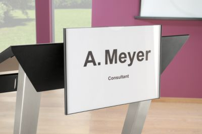 Namensschild/Logohalter für Rednerpult Audience