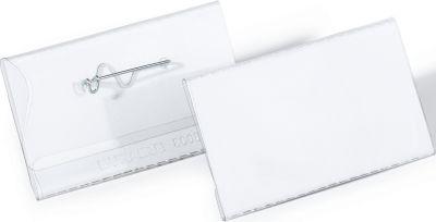 Namensschilder, mit Nadel, 40 x 75 mm, 100 St.