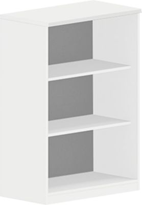 NEVADA boekenkast, spaanplaat, 3 OH, B 800 x D 445 x H 1160 mm, wit