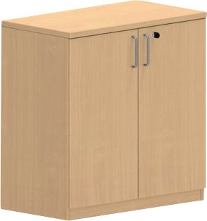 NEVADA Kast, 2 OH, houten deuren, b 800 x d 420 x h 825 mm, beukendecor