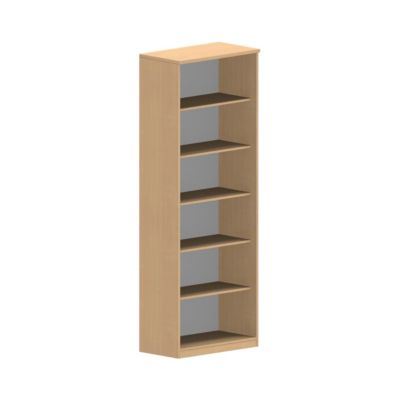 NEVADA open kast, 6 OH, b 800 x d 420 x h 2220 mm, beukendecor