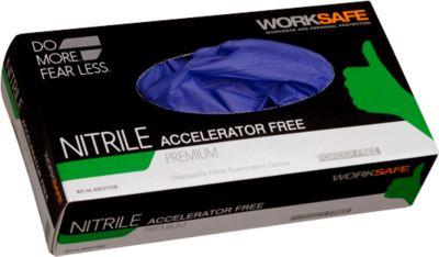 Nitril handschoenen Worksafe Premium, CE 0321 Cat 3, poeder- en versnellervrij, d.blue, maat 9, 1000 stuks.