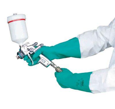 Nitrilbeschermende handschoen Neutron, chemisch- en vloeistofdicht, 12 paar, maat L