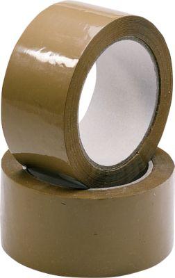 NOPI® 12 verpakkingsplakband, bruin, 6 rollen