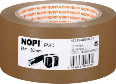 NOPI® Verpakkingstape 4065, 50 mm x 66 m, 6 rollen, bruin