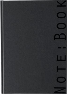 Note:Book, DIN A4, schwarz, ca. 200 Seiten