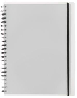 Notebook Easy, A4, KolmaFlex, 100 Blatt, 5 mm, kariert, farblos