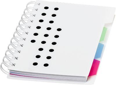 Notizbuch Bucef, 116 Seiten, spiralgebunden, farbliche Register und Kunststoffhülle, schwarz