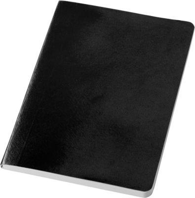 Notizbuch Gallery, DIN A5, 80 linierte Blätter, mit Papierrücken, schwarz
