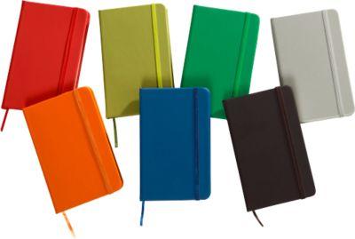 """Notizbuch """"Kine"""", ca. A6, 100 Blanko-Seiten, PU-Einband, Werbedruck, blau"""