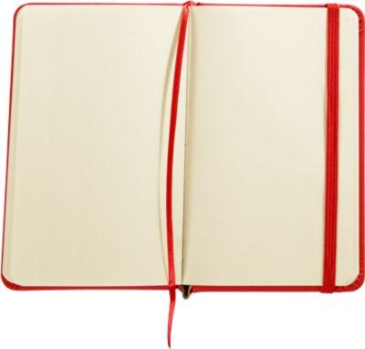 """Notizbuch """"Kine"""", ca. A6, 100 Blanko-Seiten, PU-Einband, Werbedruck, rot"""