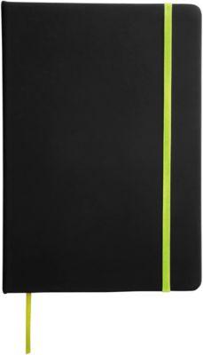 Notizbuch Lector, DIN A5, blanko, 70g/m², 80 Seiten, Tampondruck 50 x 20 mm, schwarz/grün