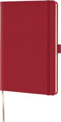 Notizbuch Lediberg Appeel A5, 192 Blatt kariert, aus Apfelleder, rot