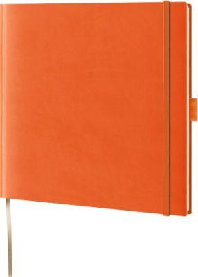 Notizbuch Lediberg, ideal für die Werbeanbringung, orange