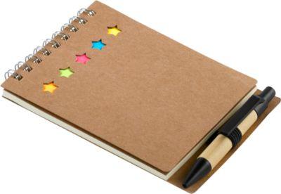 Notizbuch, liniert, Haftnotizen, Markern u. Kugelschreiber, inkl. Werbedruck 1-farbig + Grundkosten