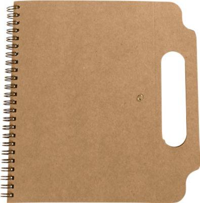 Notizbuch Makron, 210 x 200 x 10 mm, 70 Blatt liniert, inkl. 150  Haftnotizen, Druckfl. 50 x 20 mm