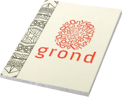 Notizbuch/Malblock, linke Seite blanko, rechte Seite liniert, 145 x 5 x 210 mm