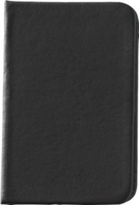 Notizbuch Minikine, 96 Blatt liniert, mit Gummibandverschluss, schwarz