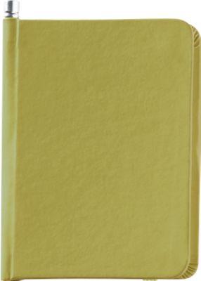 Notizbuch mit Gummiverschluss und Bleistift, 66 Blatt blanko,  grün